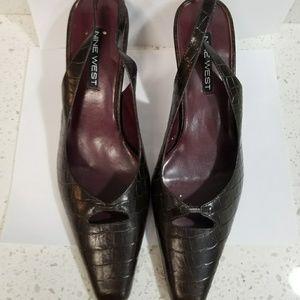 NINE WEST BROWN Sandals, size 10
